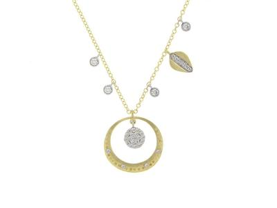 Cropped product listing diamond pave halo necklace