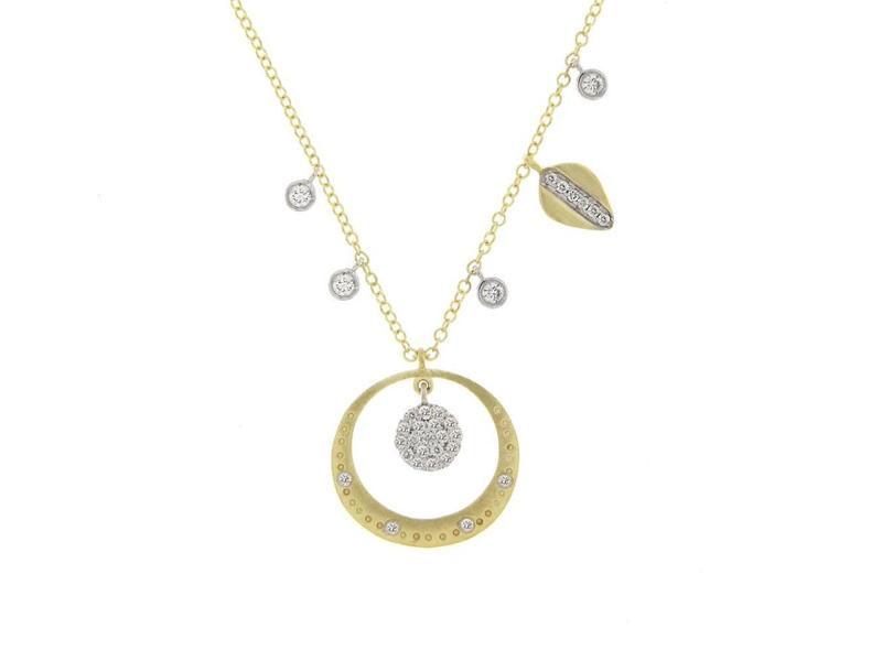 Cropped product page diamond pave halo necklace
