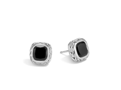 Cropped product listing magic cut stud earring with black onyx
