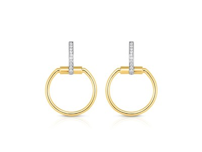 Cropped product listing small classica parisienne diamond hoops