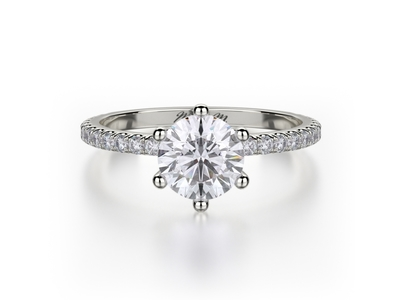 Cropped product listing six prong engagement ring