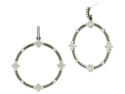 Cropped product listing signature open drop hoops