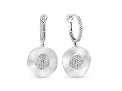 Cropped product listing diamond disc earrings
