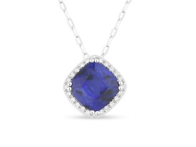 Cropped product listing blue diamond necklace