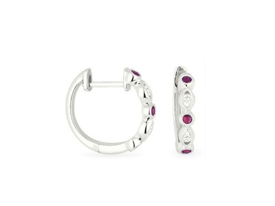 Cropped product listing ruby diamond hoops