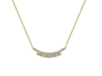 Cropped product listing diamond bar necklace