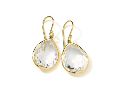 Cropped product listing 18k gold rock candy medium clear quartz teardrop earrings