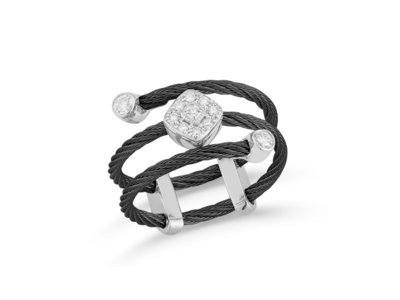 Cropped product listing blak cable ring