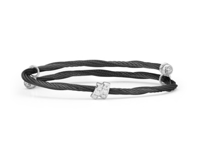 Cropped product listing noir twisted bangle