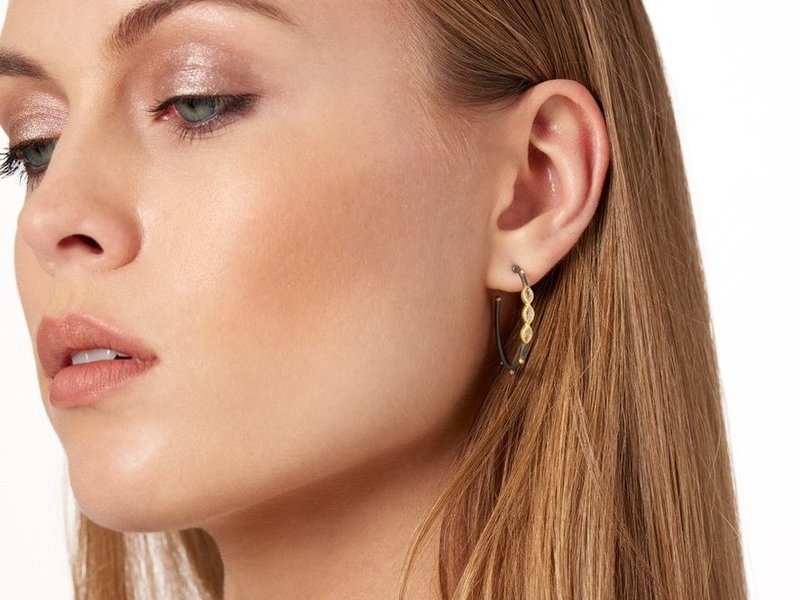 Cropped product page oval marquise hoop earrings