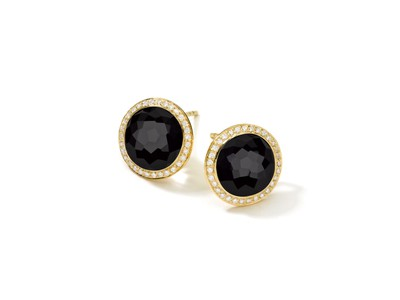 Cropped product listing 18k gold black onyx stud earrings