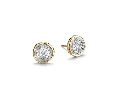 Cropped product listing stud earring with diamonds