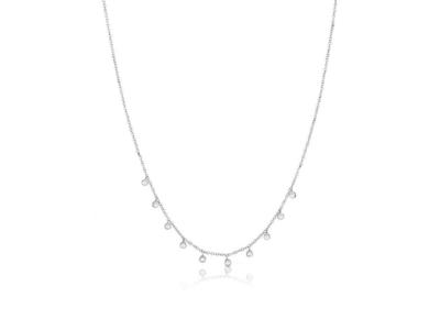 Cropped product listing diamond bezel necklace
