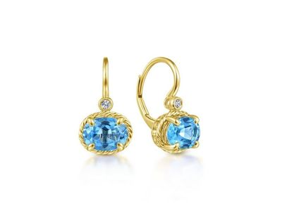 Cropped product listing blue topaz dangle earrings