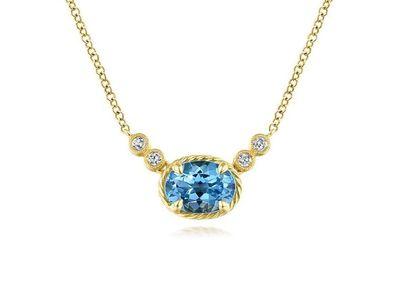 Cropped product listing blue topaz diamond necklace