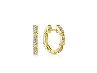 Cropped product listing diamond huggie hoops