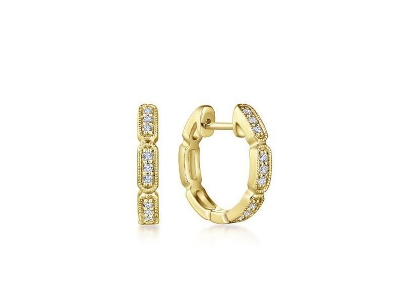 Cropped product page diamond huggie hoops