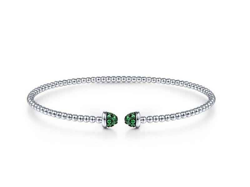 Cropped product page flexible emerald cuff bracelet