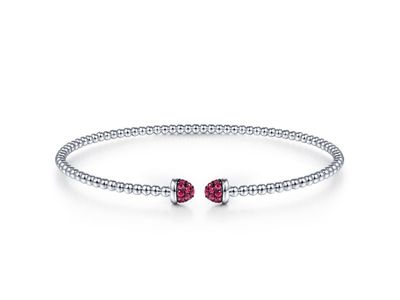 Cropped product listing flexible ruby cuff bracelet