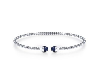 Cropped product listing flexible sapphire cuff bracelet