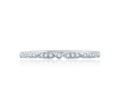 Cropped product listing art deco wedding band