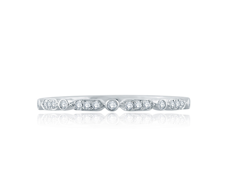 Cropped product page art deco wedding band