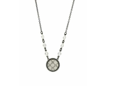 Cropped product listing industrial finish necklace