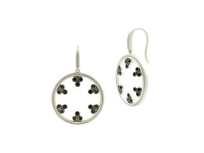 Cropped product listing open hoop drop earrings