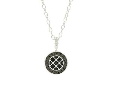Cropped product listing industrial circle necklace