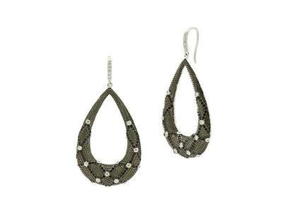 Cropped product listing industrial open teardrop earrings