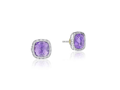 Cropped product listing amethyst earrings