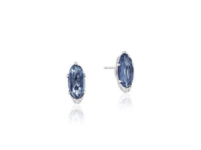 Cropped product listing blue topaz earrings