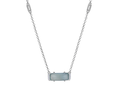 Cropped product listing chalcedony necklace