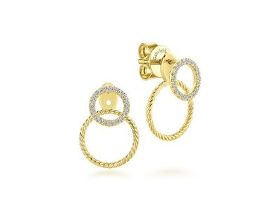 Cropped product listing peek a boo double circle earrings