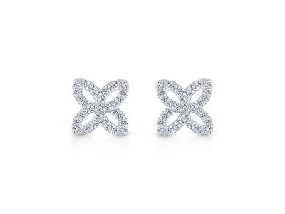Cropped product listing floral diamond studs