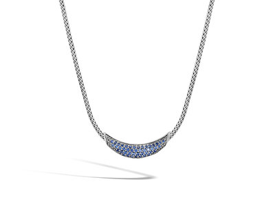 Cropped product listing classic chain blue sapphire necklace