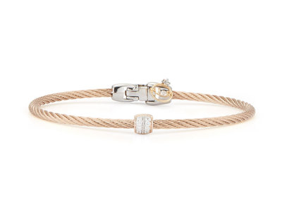 Cropped product listing carnation cable bracelet
