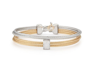 Cropped product listing multi row cable bangle