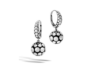 Cropped product listing dot collection drop earrings