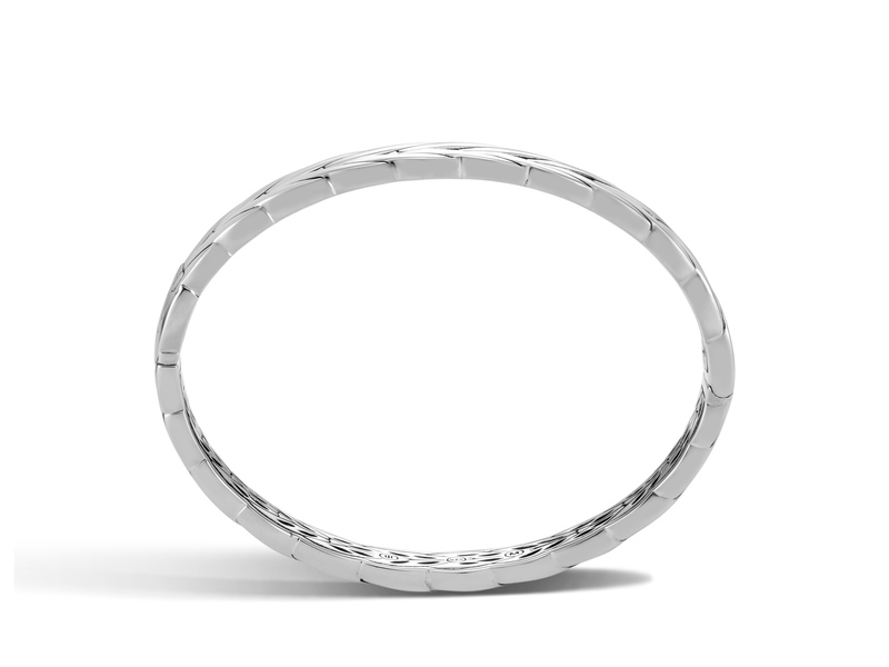 Cropped product page modern chain collection hinged bangle