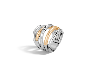 Cropped product listing bamboo collection ring
