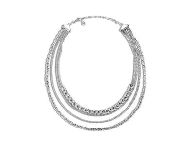 Cropped product listing asli classic chain link multi row necklace