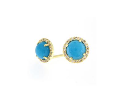 Cropped product listing turquoise diamond studs