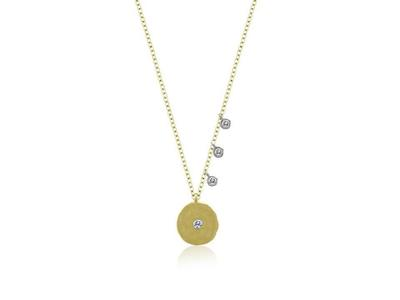 Cropped product listing disc necklace with diamonds