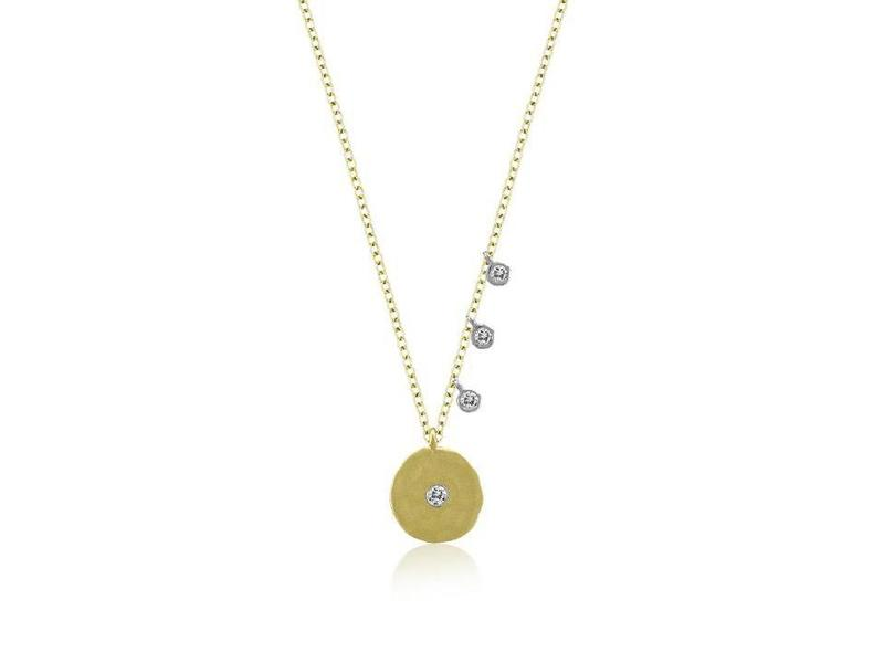 Cropped product page disc necklace with diamonds