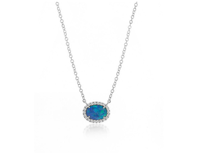 Cropped product listing opal and diamond necklace