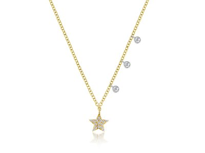 Cropped product listing diamond star necklace