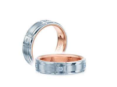 Cropped product listing rose inlay wedding band