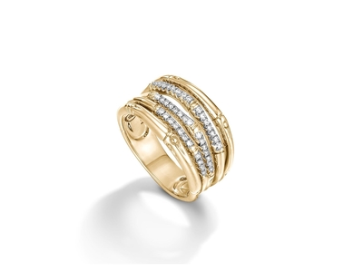 Cropped product listing bamboo ring with diamonds