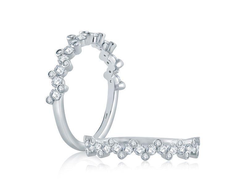 Cropped product page vine cluster half circle stackable band